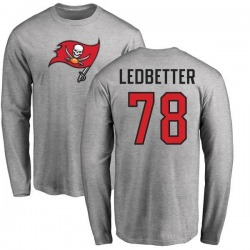 Youth Jeremiah Ledbetter Tampa Bay Buccaneers Name & Number Logo Long Sleeve T-Shirt - Ash