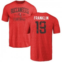Youth John Franklin III Tampa Bay Buccaneers Red Distressed Name & Number Tri-Blend T-Shirt